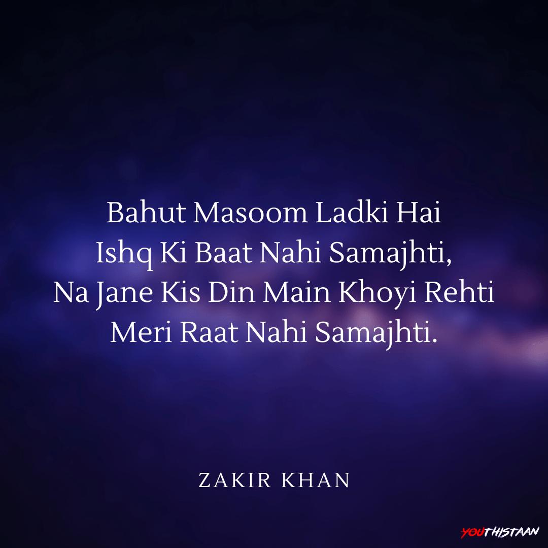 Best Zakir Khan Shayaris